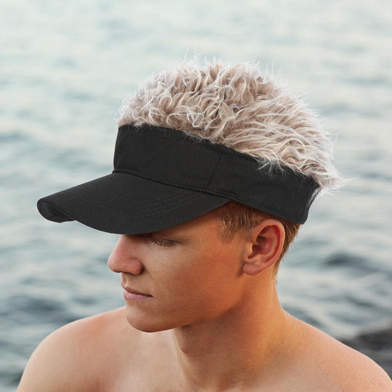 New Hat Hair-Visor Baseball-Cap Golf-Caps Street-Trend Casual Unisex Wig Funny Parent-Child title=