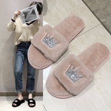 Liren 2019 Summer Casual Women King Pattern Lady Home Anti-slip Shoes Soft Warm Sandal House Indoor Slippers