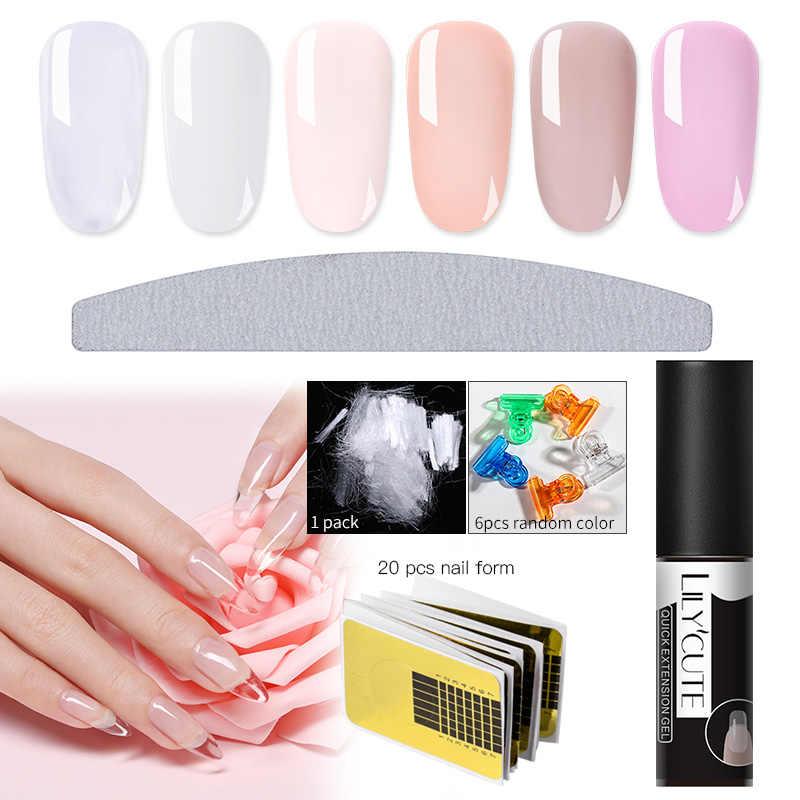 LILYCUTE 5ml Quick Uitbreiding Nail Gel Jelly Acryl Poly UV Gel Polish Clear White Soak Off UV Builder UV gel Nagel