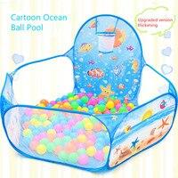 Cartoon vouwen indoor oceaan ballenbad layout hek baby spel huis kinderen tent kleur golf ball pool