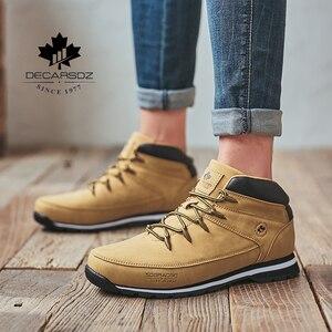 Image 3 - ผู้ชายBasicรองเท้ารองเท้าผู้ชาย2020ฤดูใบไม้ร่วงฤดูหนาวแฟชั่นCasualรองเท้าผู้ชายข้อเท้าBotasใหม่หนังคลาสสิกลูกไม้ upรองเท้า