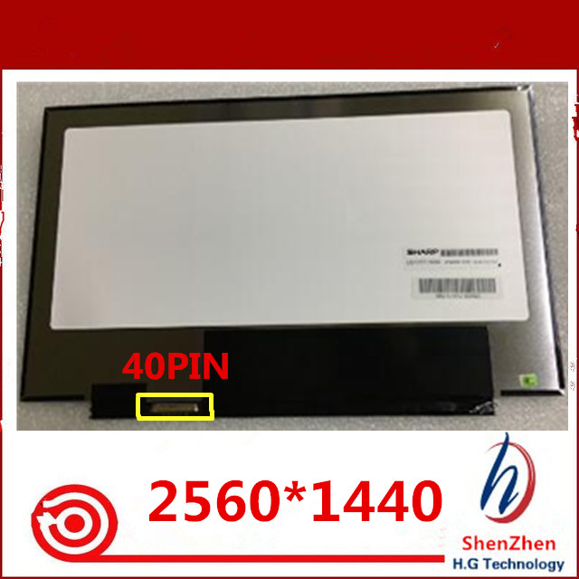 Original 13.3'' slim lcd matrix LQ133T1JW02 FOR ACER ASPIRE laptop notebook replacement screen 2560*1440 40pin