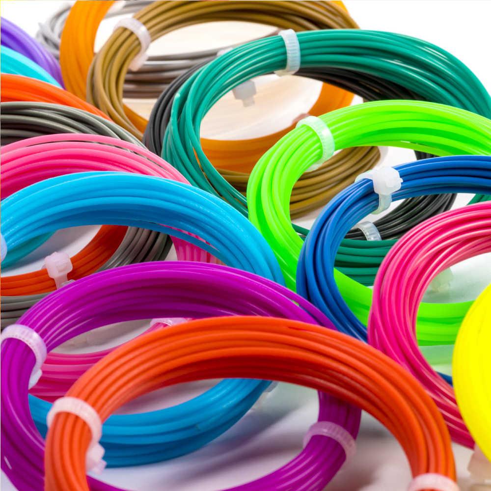 Sunlu 1.75 pla 3d impressão caneta filamento recargas para crianças diy artesanato consumível pla filamento 5m enviar por cor aleatória