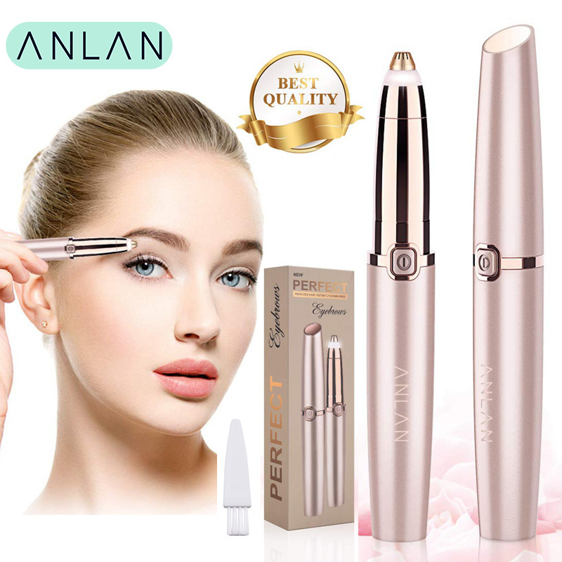ANLAN Electric Eyebrow Trimmer Shaver Women Eyebrow Painless Hair Removal Pens Makeup Mini Eye Brow Razor Portable Hair Epilator