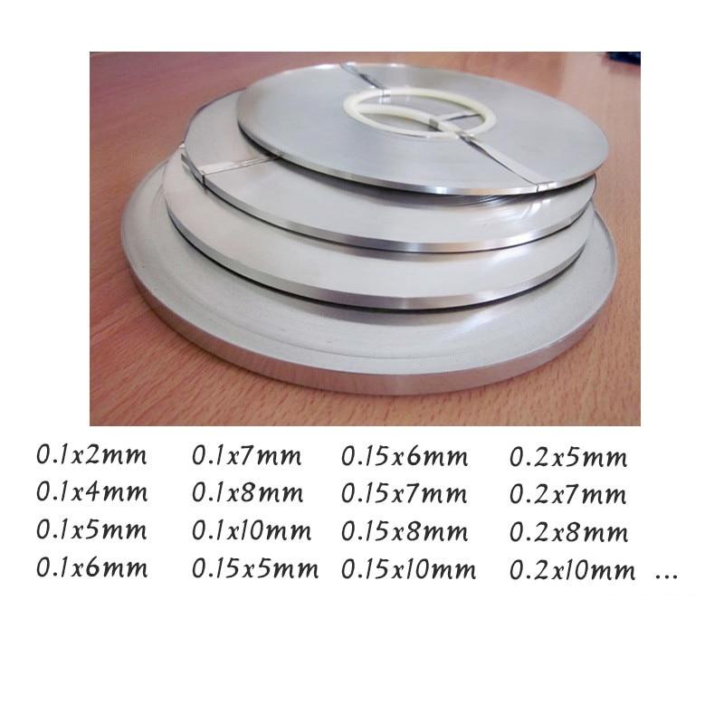 10Meter 0.2mm X 8mm Pure Nickel Strip Tape For Li 18650 Battery Spot Welding Compatible For Spot Welder Machine