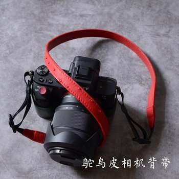 ostrich flamingos hand-woven Genuine leather Camera Shoulder Neck Strap Belt for Mirrorless Leica Canon Fuji Nikon Olympus sony