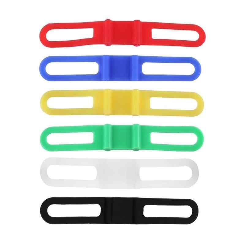 Bandaż elastyczny pasek silikonowy MTB do roweru szosowego i górskiego latarka zespoły rowerowe zaczep na lampę uchwyt rowerowy akcesoria rowerowe