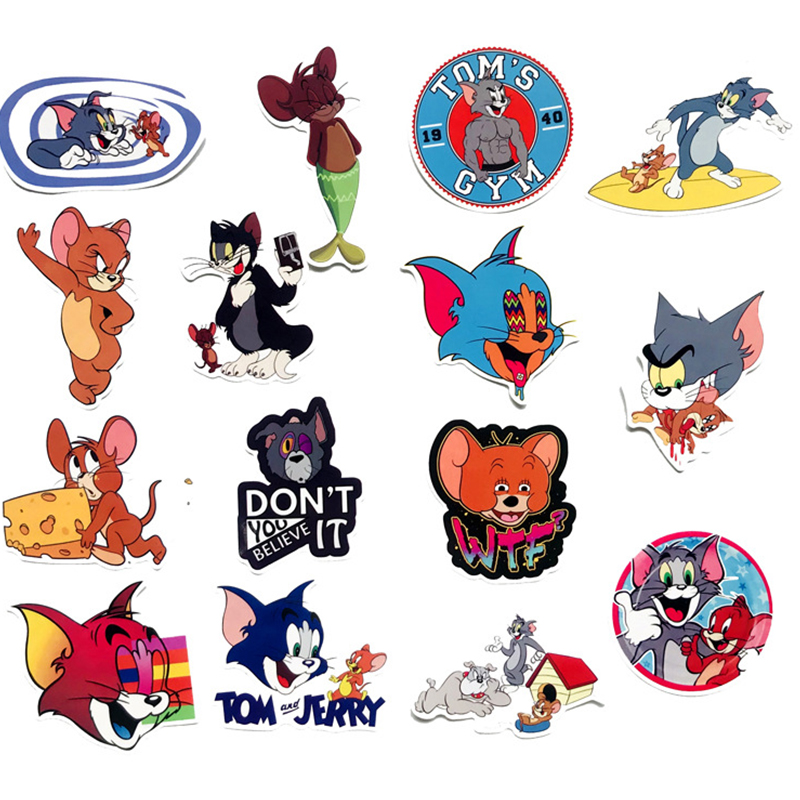 3 Sheets TOM /& JERRY Scrapbook Stickers Cat Mouse