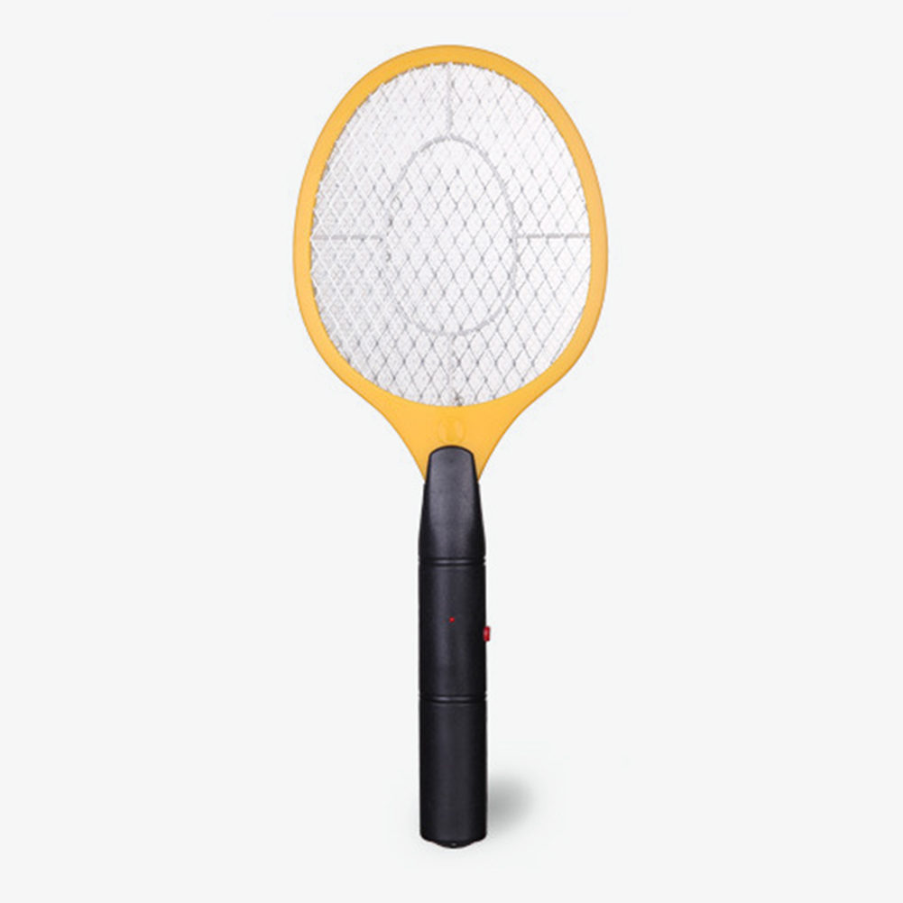 Black Handle Batteries Operated Hand Racket Electric Mosquito Swatter Insect Home Garden Pest Fly Mosquito Zapper Swatter Killer