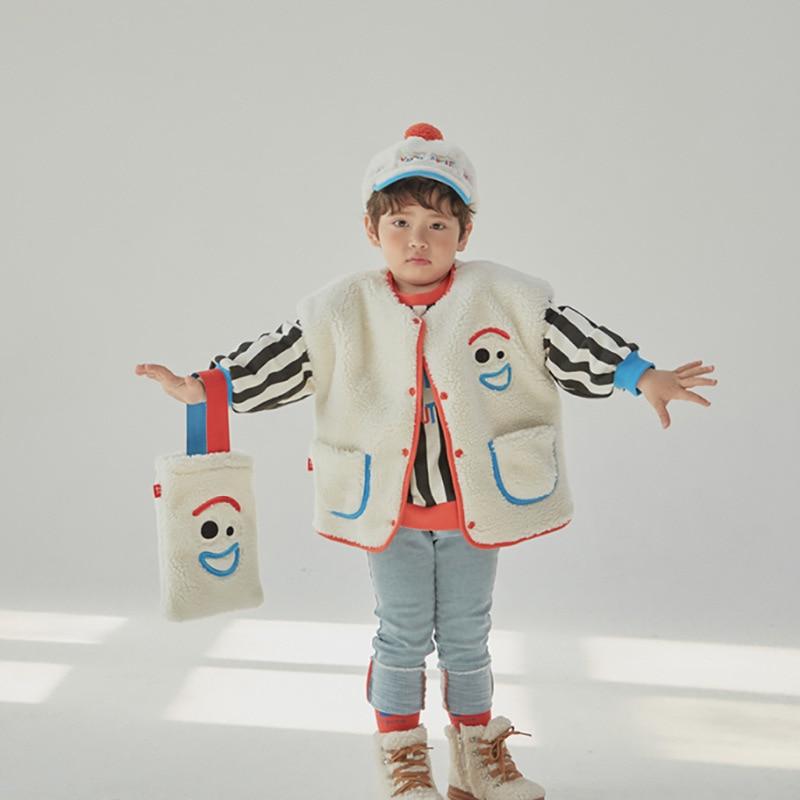 RJ Korea Brand 2021 New Winter Boys Coats Kids Jackets for Girls Cartoon Caca Fur Thick Warm Children Clothes Baby Outwear 3
