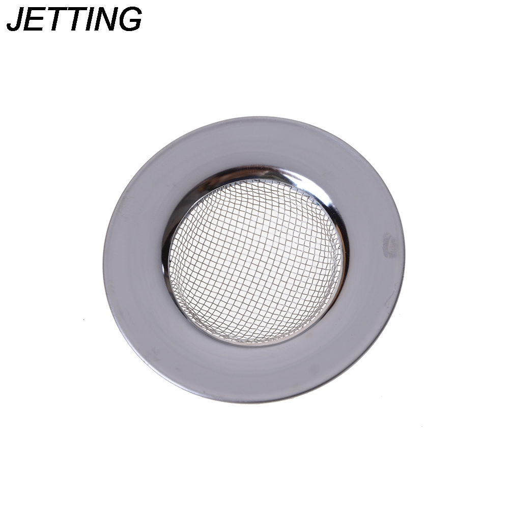 1Pcs Kitchen Sink Filter Round Floor Drain Sewer Drain Hair Colanders & Strainers Filter Bathroom Sink Stainless Steel Filter