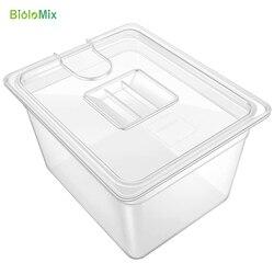 Sous Vide recipiente con tapa 11 litros tanque de agua baño para circulador Sous Vide inmersión culinaria olla lenta Biolomix