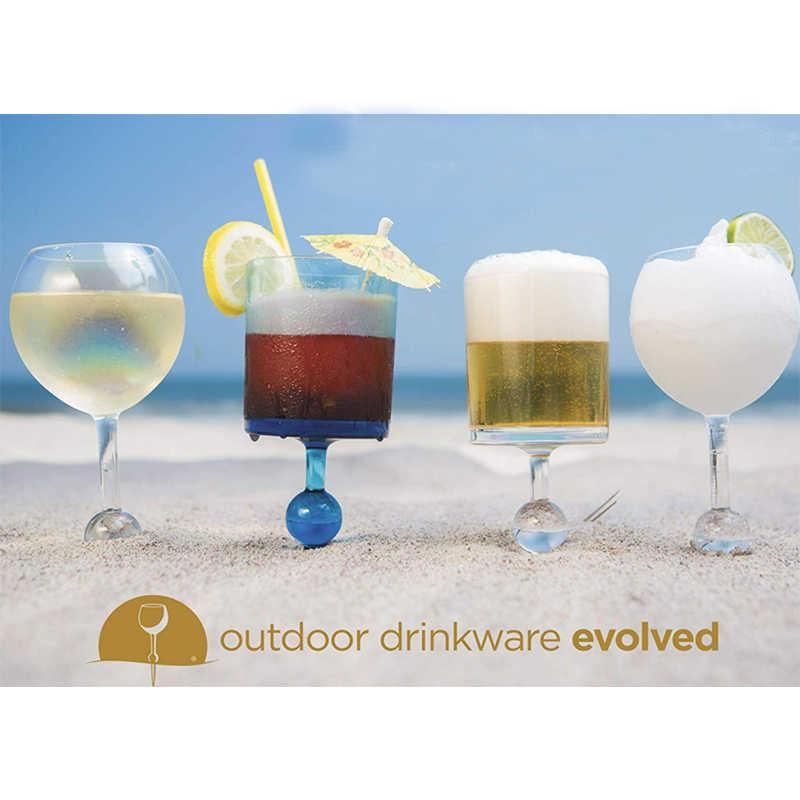Spiaggia di Vetro Originale di Vetro Galleggiante Acrilico e Infrangibile Birra Vino Cocktail Bere Occhiali per Piscina Spiaggia Uso Esterno