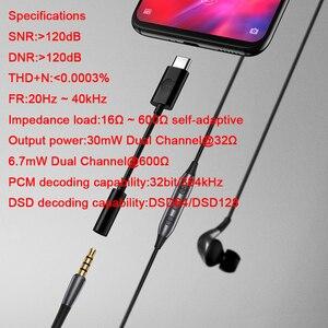Image 4 - Meizu Hifi earphones amplifier audio HiFi lossless DAC Type C to 3.5mm audio adapter Cirrus Logic CS43131 Chip high impedance