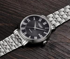 Image 2 - NAKZEN Men Classic Automatic Mechanical Watches Brand Luxury Man Stainless Steel Wristwatch Clock Relogio Masculino Miyota 9015