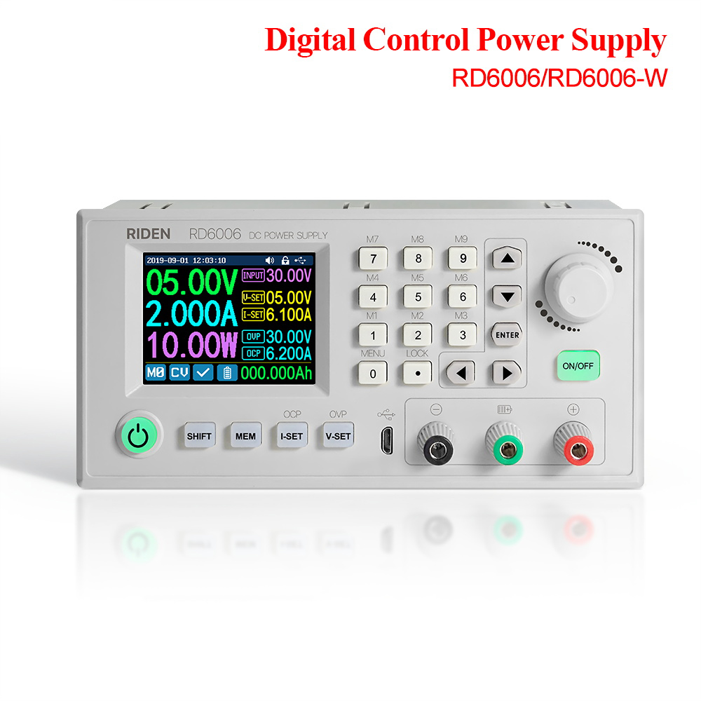 RD RD6006 RD6006W DC - DC Voltage current converter voltmeter 60V 6A USB WiFi Step-down Power Supply module buck Voltage 40percentoff