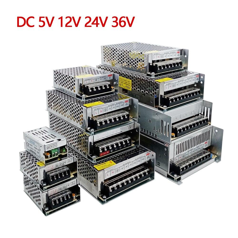 AC DC 5V 12V 24V 36V 48V Power Supply 5 12 24 36 V Volt AC DC 220V TO 5V 12V Swihing Power Supply 24V SMPS 1A 3A 5A 10A 20A 30A