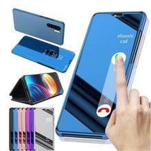 realmext case smart mirror flip case for