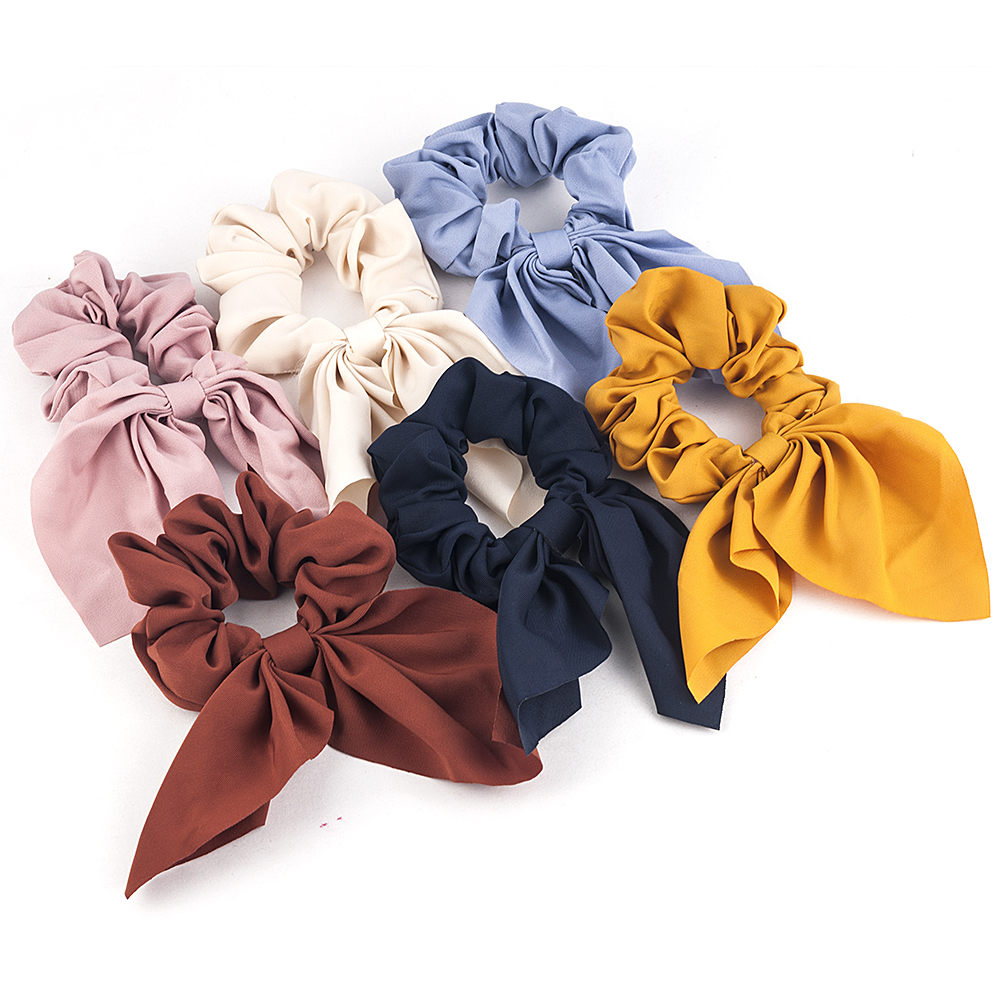 2019 New Women Spring Summer Soild Headband Vintage Knot Elastic Hair Bands Soft Solid Girls Hairband Hair Accessories Wholesale