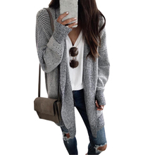 Women Open Stitch Plaid Long Knitted Sweater Coats 2019 Casual Autumn Winter Female Cardigan New Plaid Knitted Vintage Coat