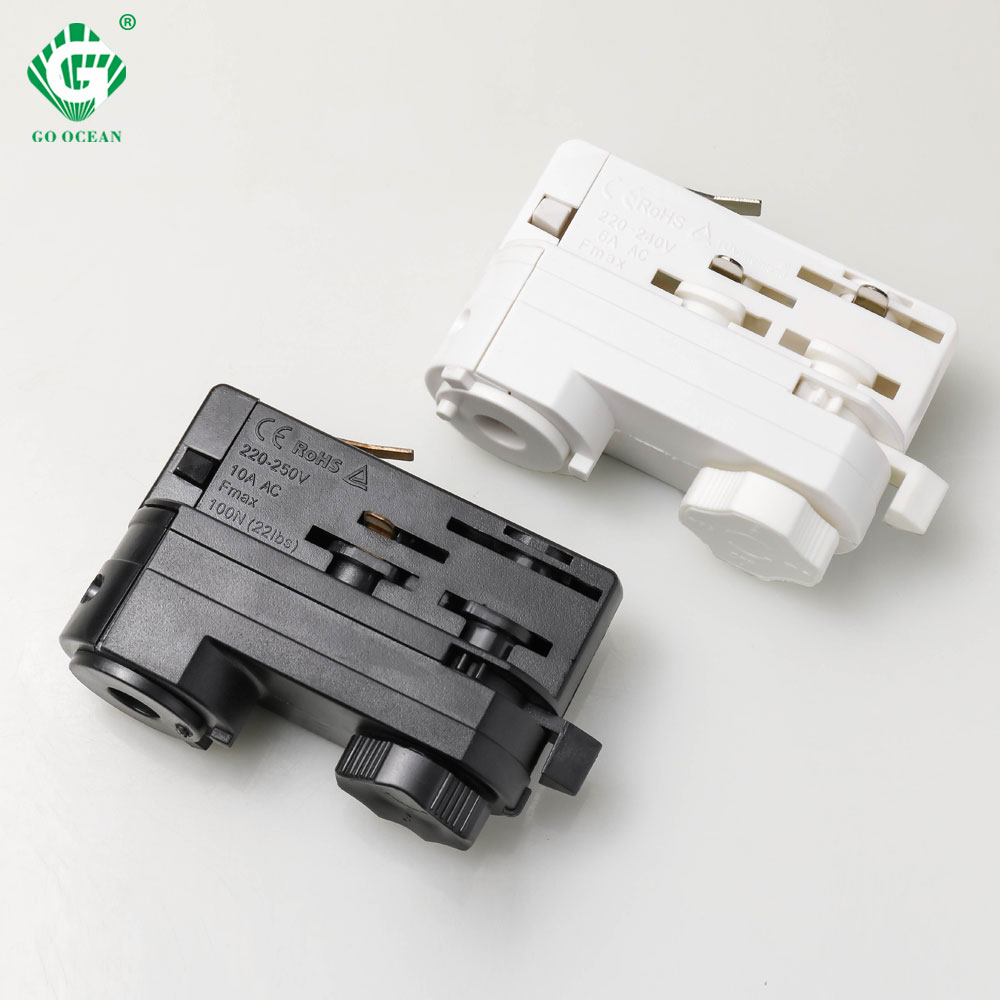 4 Wire 3 Phase LED Track Light Head 4 Line Spot Rail Lights Connector Guide Global