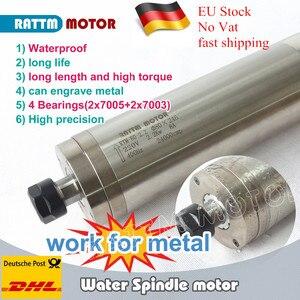 Image 1 - Wysokiej jakości tokarka wodoodporny silnik wrzecionowy z chłodzeniem wodą 2.2KW 220V ER20 do metalu