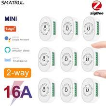 SMATRUL Tuya ZigBee Wifi Smart Switch Light Module 16A Mini DIY Breaker Wall 2 Way Timing Control On Off For Alexa Google Home