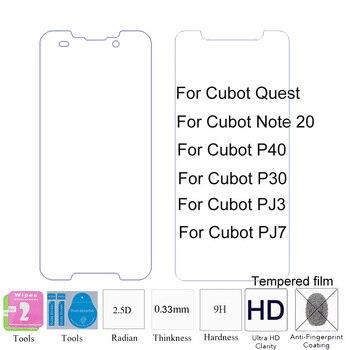 Перейти на Алиэкспресс и купить 2 шт. 2.5D 0,33 мм 9H Премиум закаленное защитное стекло для Cubot Note 20/P40/P30/Quest/J7/J3 Защитная пленка для переднего экрана