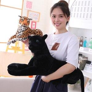 Image 4 - 30 120 см гигантская черная леопардовая пантера Плюшевые игрушки Мягкая мягкая подушка для животных кукла для животных Желтый Белый тигр игрушки для детей