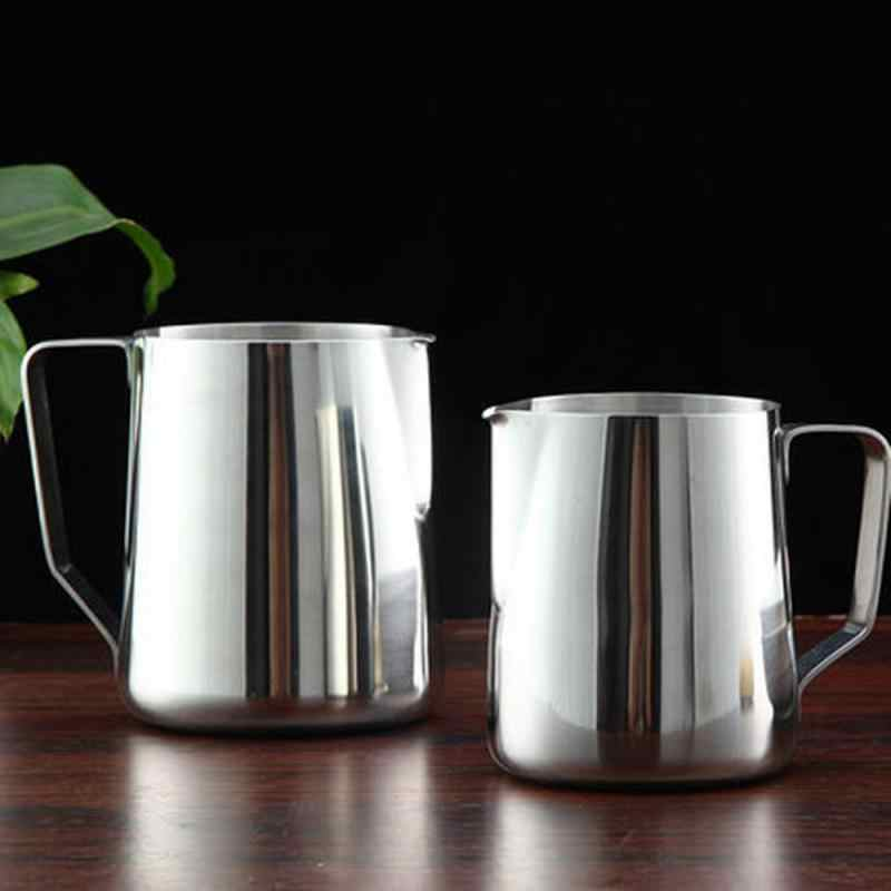 Stainless Steel Buih Kopi Teko Tarik Bunga Cup Cappuccino Susu Pot Espresso Cangkir Latte Art Susu Frother Buih Kendi