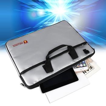Ognioodporna torba na dokumenty odporne na wodę banknoty do przechowywania bagażu organizator z paskiem ognioodporne torby na laptopy tanie i dobre opinie Z tworzywa sztucznego Fireproof File Document Bag