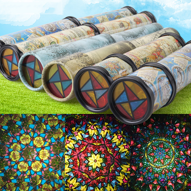 2/3 Joints Maginative Cartoon Rotation Classic Kaleidoscope Telescope Kids Fancy Vision Early Childhood Educational Toys
