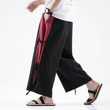 Cotton linen Wide-leg Pants Men Chinese Style Casual Jogging Large 5XL 2020 Spring High Quality Sweatpants - discount item  45% OFF Pants