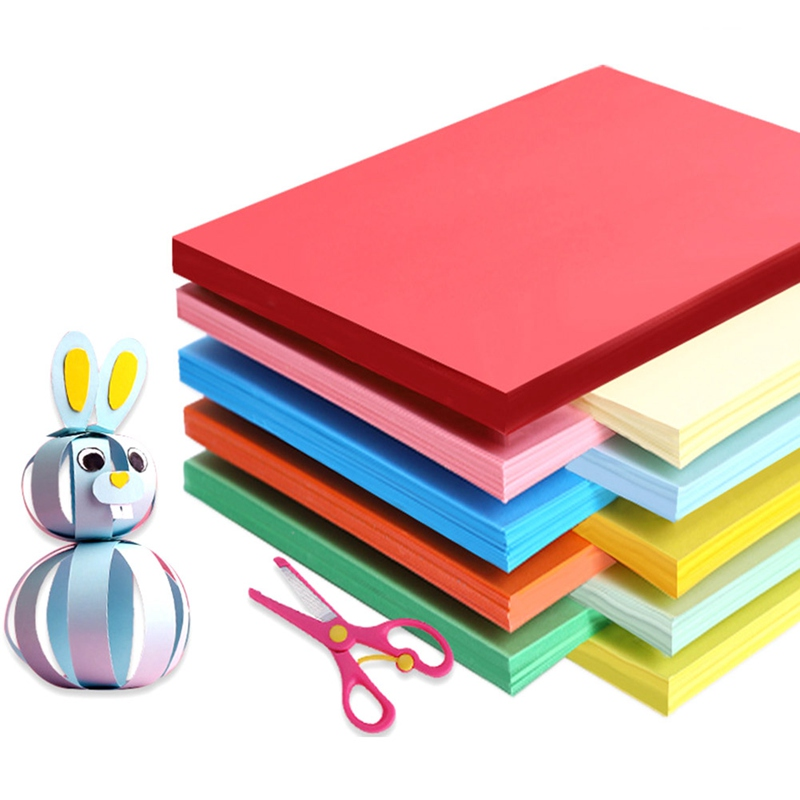 50pcs Colour Wrapping Paper Copier Printing Paper Children Colour Origami Material Handmade Paper Cardboard Package