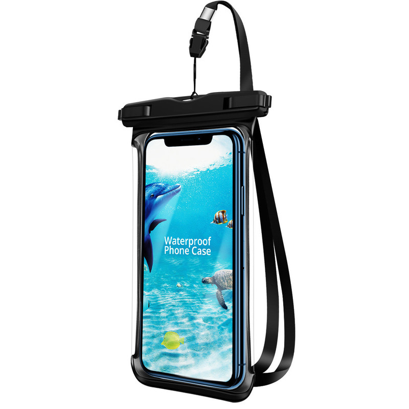 Full View Waterproof Case For Phone Underwater Snow Rainforest Transparent Dry Bag Swimming Pouch Big Mobile Phone Bag Sealed