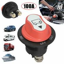 100a interruptor da bateria do carro rotativo desconexão evitar energia curto disconnecter isolador de energia para o caminhão da motocicleta auto barco