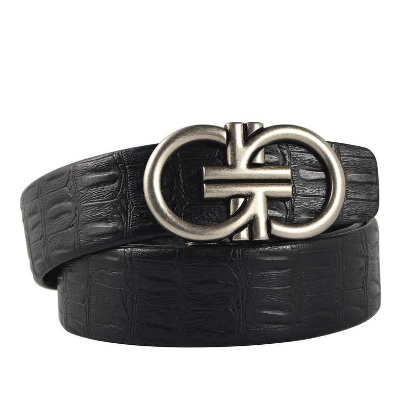 Men Belt Automatic Genuine Leather Luxury Black Belt Men s Belts Automatic Buckle High Quality belt