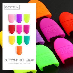 Image 2 - COSCELIA 10pcs נייל אמנות ג ל לק מסיר לעטוף ציפורניים טיפים ג ל לכה מסיר מניקור כלים טיפים UV ג ל לספוג את כובע