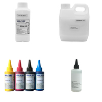 800 ml Textile Ink Set with 1000 ml White Textile Ink, 100 ml Cleaning Liquid and 1000 ml Textile White Ink Fixing Agent