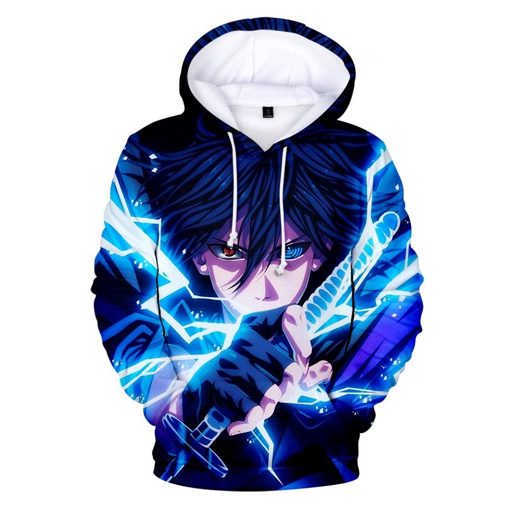 Naruto Men/women 3D Hoodies Sweatshirt Hot Sale New Fashion Sasuke Spring/Autumn Kakashi 3D Cartoon Casual Harajuku Clothes Coat