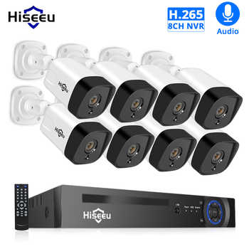 Hiseeu 8CH 1080P POE NVR CCTV Security System Kit H.265 2.0MP Audio Record IP Camera Waterproof Outdoor Video Surveillance Set - DISCOUNT ITEM  29% OFF All Category