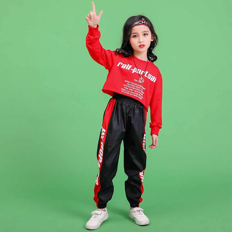 Koreaanse Top Broek Jazz Pak Kinderen Hiphop Dance Kleding Jongens Meisjes Hiphop Kostuums Kids Street Dance Outfit