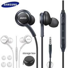 סמסונג AKG אוזניות איו IG955 3.5mm ב אוזן Wired מיקרופון נפח בקרת אוזניות לגלקסי S10 S9 S8 s7 S6 huawei xiaomi Smartphone