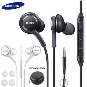 Image 1 - Auricolari Samsung AKG EO IG955 cuffie con controllo del Volume del microfono cablate In ear da 3.5mm per Galaxy S10 S9 S8 S7 S6 Smartphone huawei xiaomi