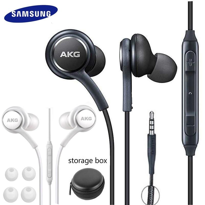 Наушники Samsung AKG EO IG955 3,5 мм, проводные наушники-вкладыши с микрофоном и регулировкой громкости для смартфонов Galaxy S10 S9 S8 S7 S6 huawei xiaomi