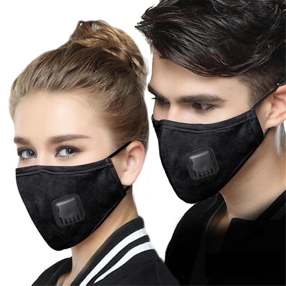 YELITE Face Mask Respirator Pulmonary Washable Reusable Mouth Mask With Valve Disposable Filter Pad Dust Masks Ffp2 Face Shield