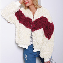 ALLNeon Zipper Front Round Neck Faux Shearling Outerwears Long Sleeve Thick White Coats for Women Bomber Streetwear 2019 Winter недорого