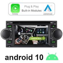 A Sure Car Radio Android Auto 10 CarPlay  WIFI 4G+ BT GPS Navigation For Jeep Grand Commander Cherokee Wrangler Chrysler