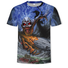 Skull 3d T Shirt Men Music T-shirts Casual Metal Shirt 3d Print Rock Man's T-shirt Darkness Anime Clothes Cool Tops 6xl