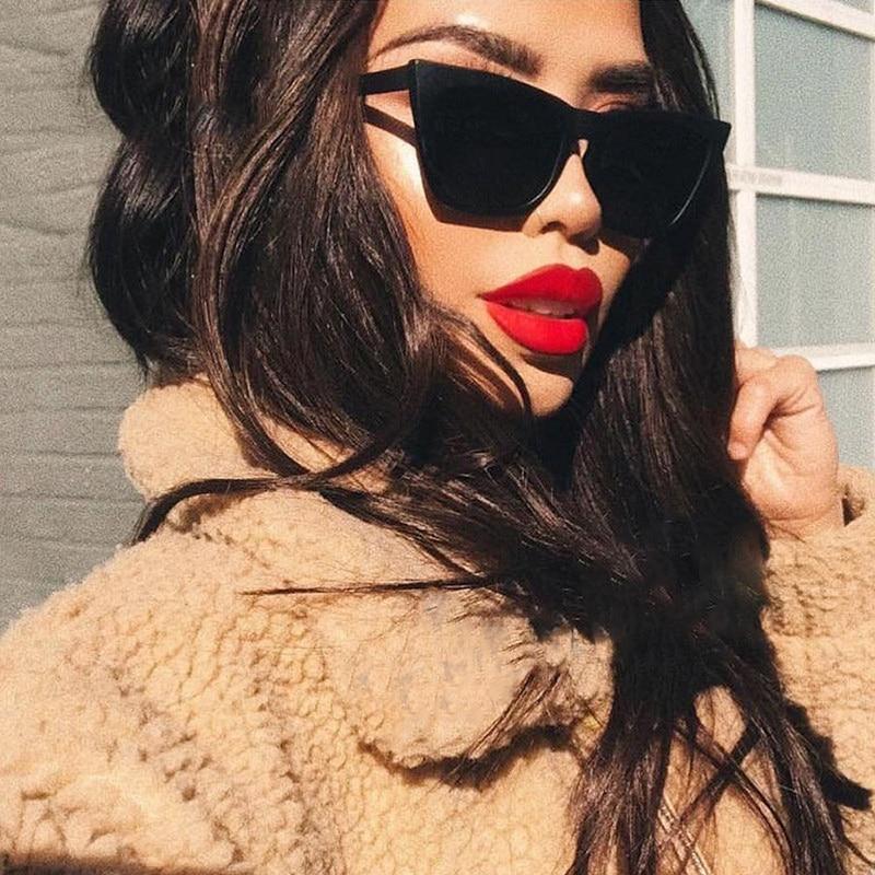 Cat Women Sunglasses Vintage Square Glasses Luxury Brand Women Sun Glasses Retro Candy Color Lens Sunglass De Sol Mujer